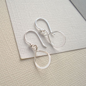 Sterling Silver Infinity Earrings - earrings