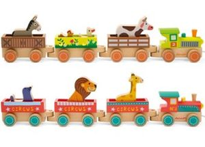 My First Wooden Train - cars & trains