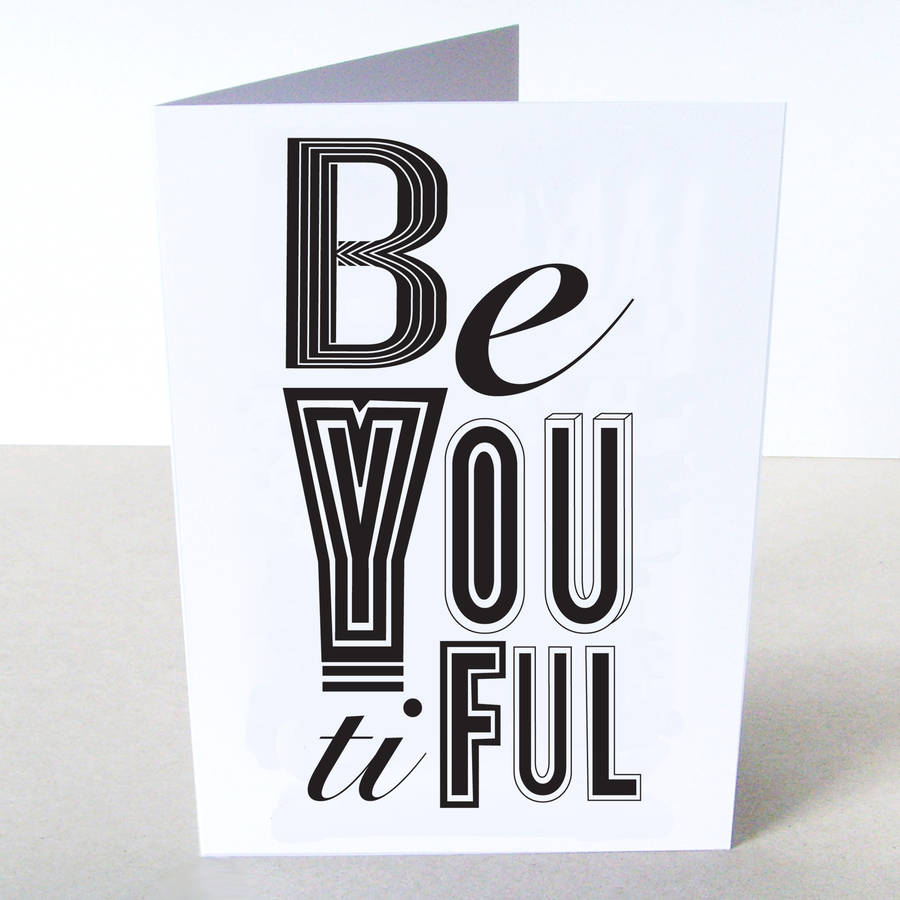 'Beyoutiful' Card