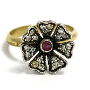 Poppy Diamond And Ruby Ring