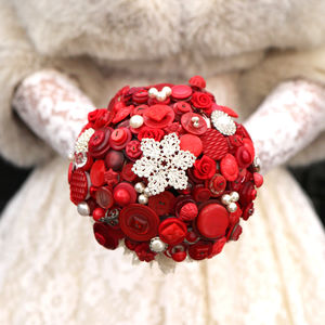 Winter Wedding Button Bouquet - flowers, bouquets & button holes