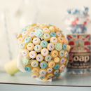 Pastel Polka Dot Button Bouquet
