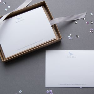 Personalised Bluebird Correspondence Cards