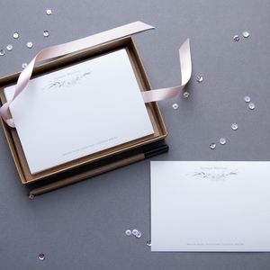 Personalised Floral Note Cards