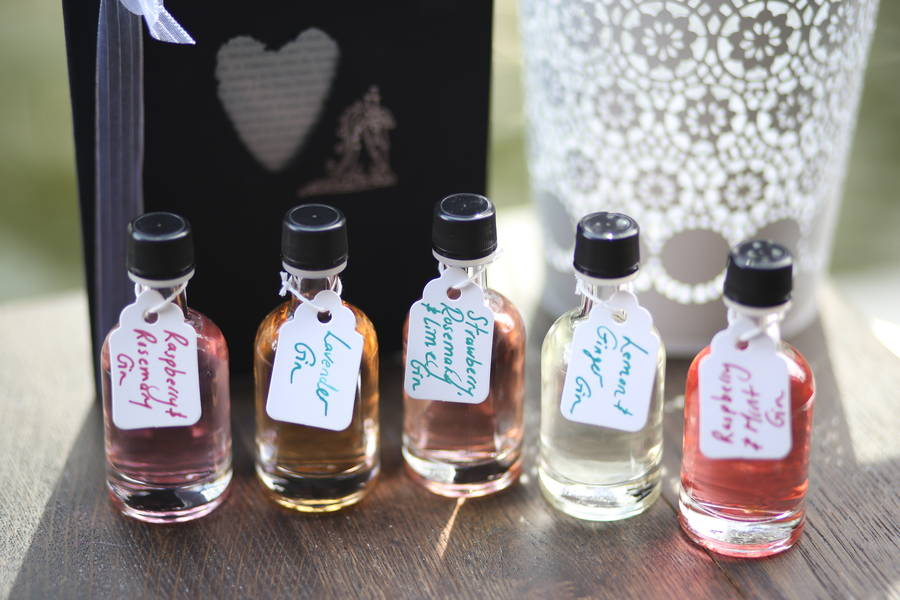 Wedding Favours Infused Gin From 15 Bottles By Gin Tales