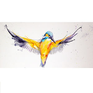Flying Kingfisher No.Seven - contemporary art