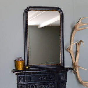Gold Edged Vintage Wall Mirror - on trend: moody
