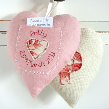 Personalised Tooth Fairy Pocket Heart