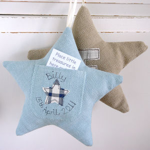 Personalised Tooth Fairy Pocket Star