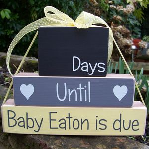 Personalised Countdown Blocks * You Choose The Occasion - chalkboards