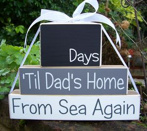 Personalised Countdown Blocks * You Choose The Occasion - kitchen accessories