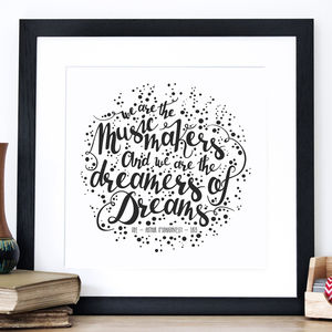 'We Are The Music Makers' Screen Print - what's new