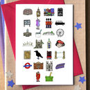 London Alphabet Card