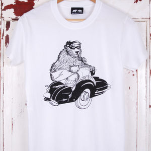Bear And Sidecar T Shirt - men's fashion
