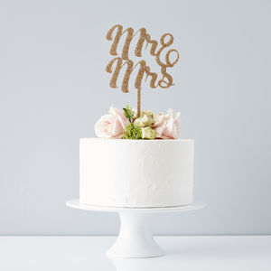 Mr And Mrs Wedding Cake Topper - cake decoration