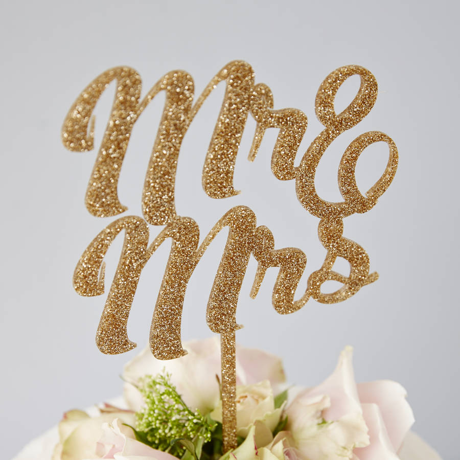 Champagne Wedding Cake Topper