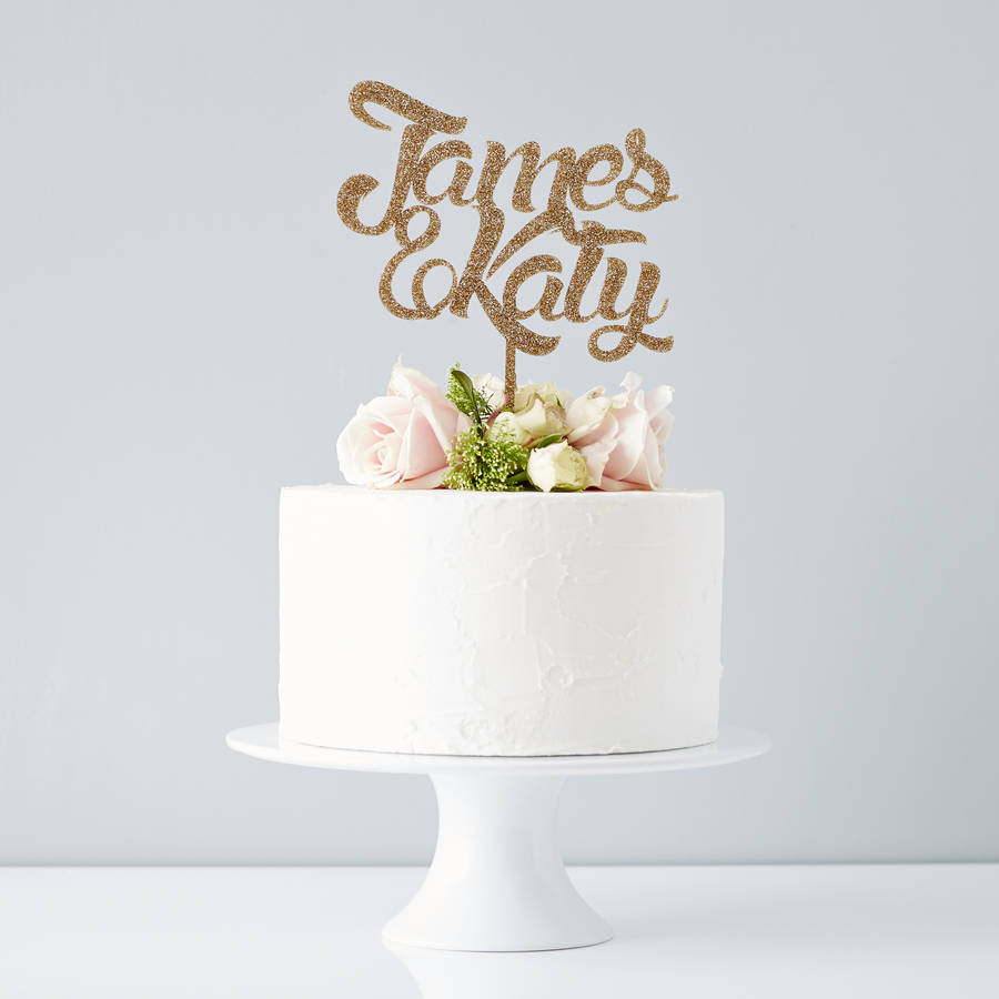 personalised couples wedding cake topper by sophia victoria joy