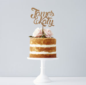 Personalised Couples Wedding Cake Topper - table decorations