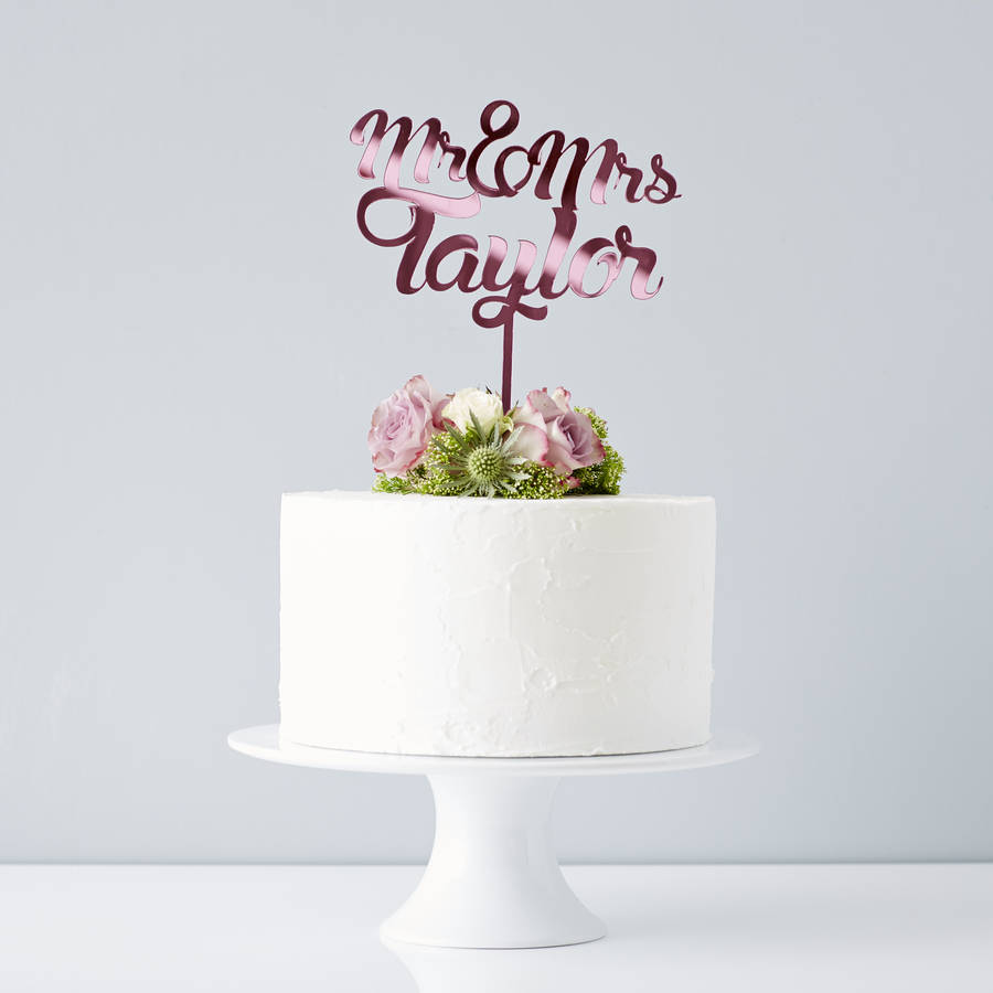 Cake Toppers Uk Personalised : personalised mr and mrs wedding cake topper by sophia ...