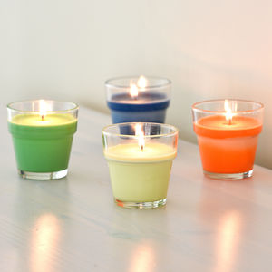 Four Fruit Scented Flowerpot Candles Soy Wax