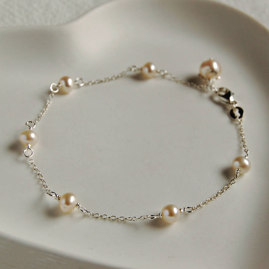 shop dark water pearls fresh bracelet mixed