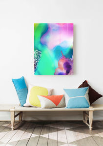 Liquid, Abstract Colourful Canvas Art - contemporary art