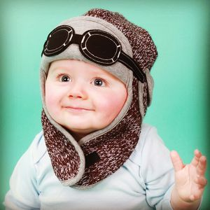 Baby's Winter Pilot Hat With Goggles