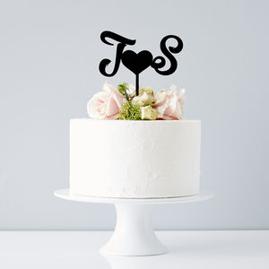 Personalised Monogram Wedding Cake Topper - cake decoration