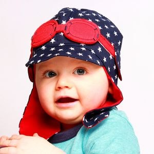 Boy's Sunshade Hat With Goggles - hats, scarves & gloves
