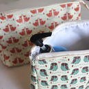 The Owl And The Fox Wash Bags