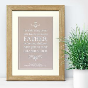 Grandfather Personalised Print