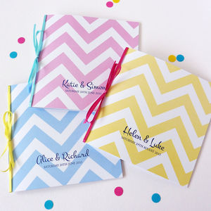 Big Chevron Wedding Stationery - save the date cards