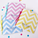 Big Chevron Wedding Stationery