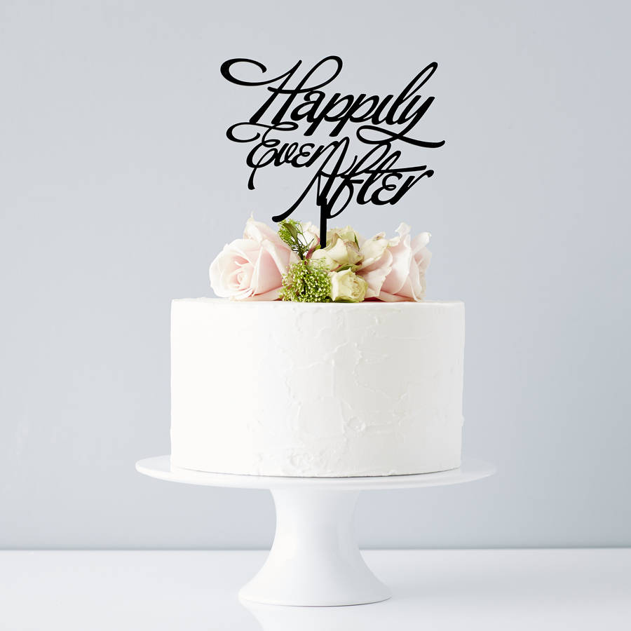 elegant \'happily ever after\' wedding cake topper by sophia victoria ...
