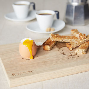 Personalised Soldier Dippy Egg Board - egg cups & cosies