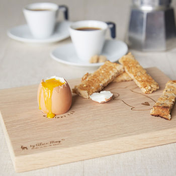 Personalised Bunny Dippy Egg Board