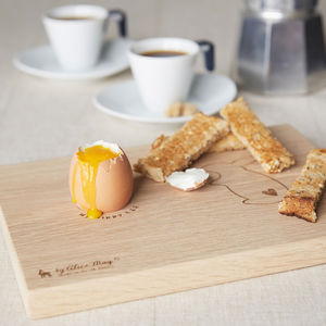 Personalised Bunny Dippy Egg Board - chopping boards