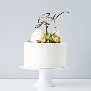 Elegant Personalised 'Initials' Wedding Cake Topper - table decorations