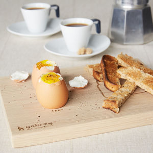 Personalised Toast Dippy Egg Board - egg cups & cosies