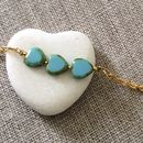 Delicate Gold And Turquoise Bracelet