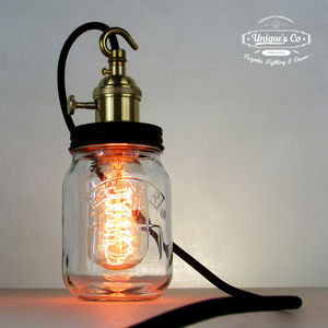 Contemporary Jam Jar Lamp - bedroom