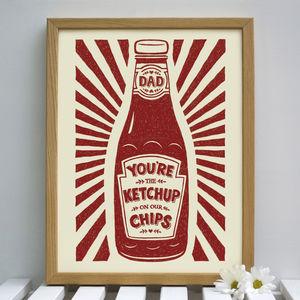 Dads Ketchup Print