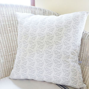 Large Cow Parsley Linen Cushion - bedroom