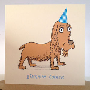 'Birthday Cocker' Card