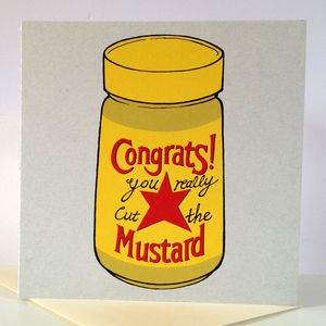 'Congrats You Really Cut The Mustard' Card - summer sale