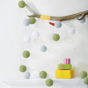 Cotton Ball String Lights - children's room