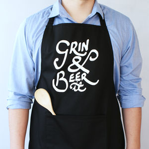 Grin And Beer It Apron