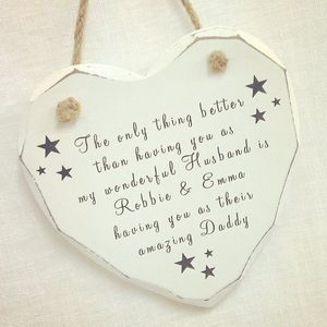 Husband And Daddy Personalised Heart Decoration