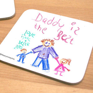 Personalised Child's Own Artwork Coaster - gifts for the home