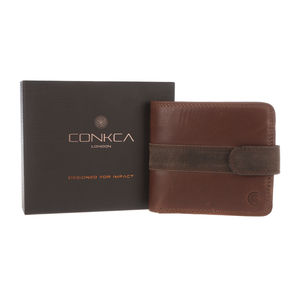 Gift Boxed Handcrafted Brown Leather 'Evan' Wallet
